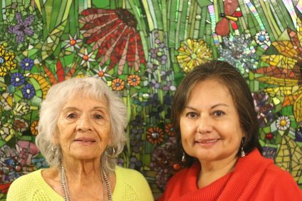 Stella Chaidez and Rosa Welle were part of a team that put together a gold-medal-winning mural for the EngAGE Senior Olympics in September.