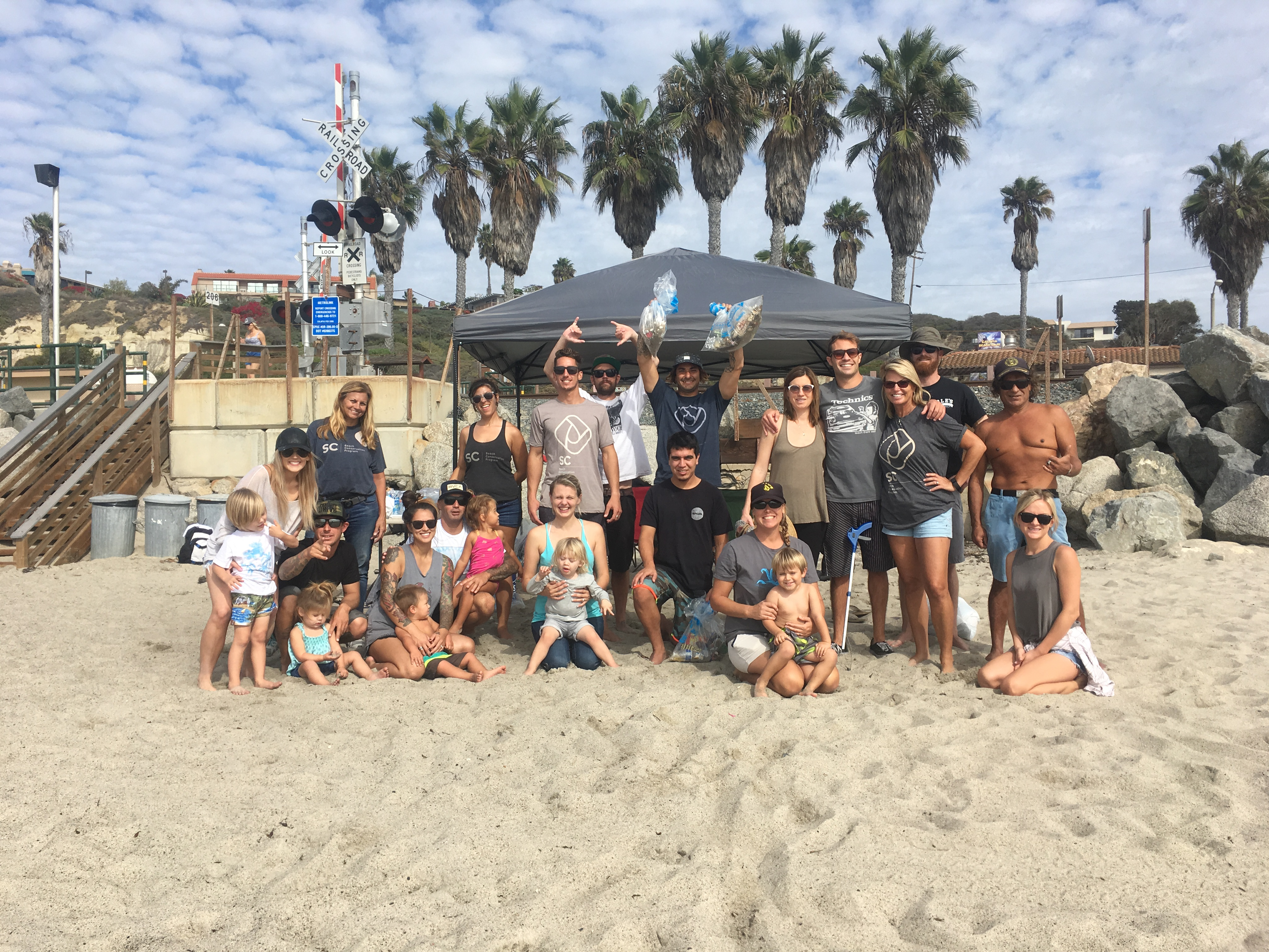 The San Clemente Beach Conservation Program has already hosted a series of beach cleanup days, and according to social media accounts is working to adopt San Clemente State Beach. Photo: Courtesy of Shon Miller