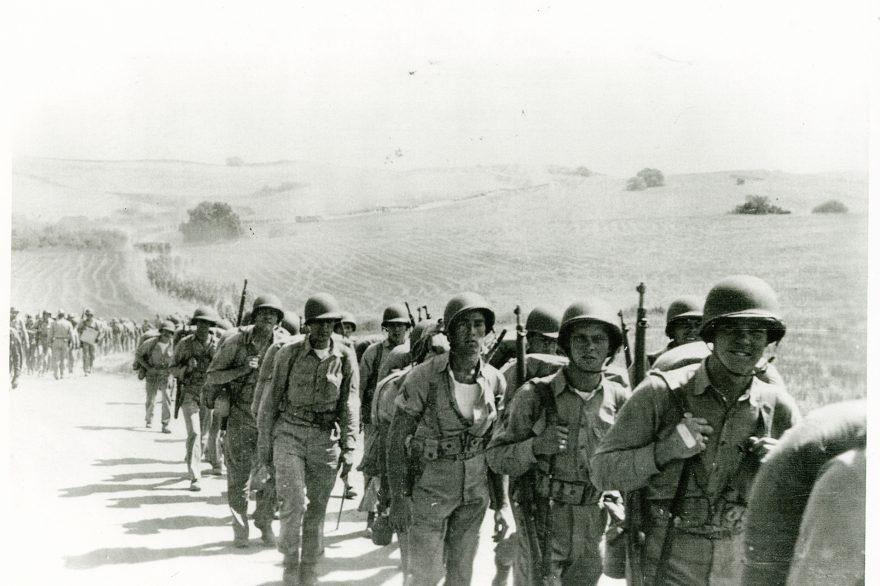 9th Marine Regiment March Aboard Camp Pendleton - September 1942