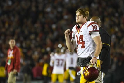 The USC Trojans defeat Penn State in the 2017 Rose Bowl. Photo: USC Athletics and John McGillen