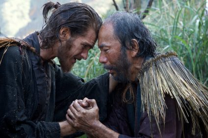 "From left, Andrew Garfield plays Father Rodrigues and Shinya Tsukamoto plays Mokichi in the film ""Silence"" by Paramount Pictures, SharpSword Films and AI Films. Photo: Courtesy Paramount Pictures"