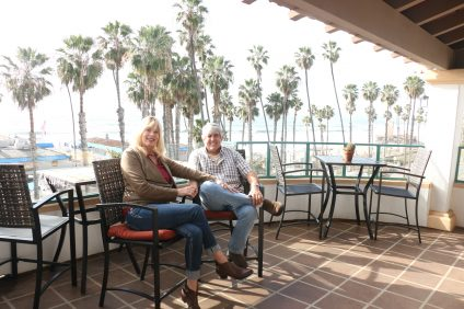 Rick and Susan Anderson, owner of the Casa Tropicana Boutique Beachside Hotel, sold the property this month to owners who intend to continue operating a hotel at the location. Rick said he and his wife bought a house in San Clemente and intend to stay in town, but they will be doing a lot of traveling. Photo: Eric Heinz