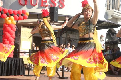 Performers with Irvine Chinese School and Three Treasures Cultural Arts Center performed for an audience on Saturday, Jan. 28, at the Outlets at San Clemente.
