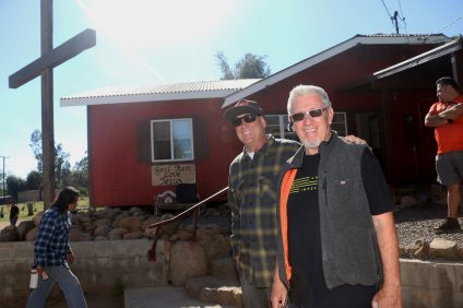 """Jeff, left, and Paul """"J.P."""" Spitz of Set Free Men's Ranch outside of Lake Elsinore run a facility for drug users and homeless people. Spitz has run the ranch for about 20 years. Photo: Eric Heinz"""