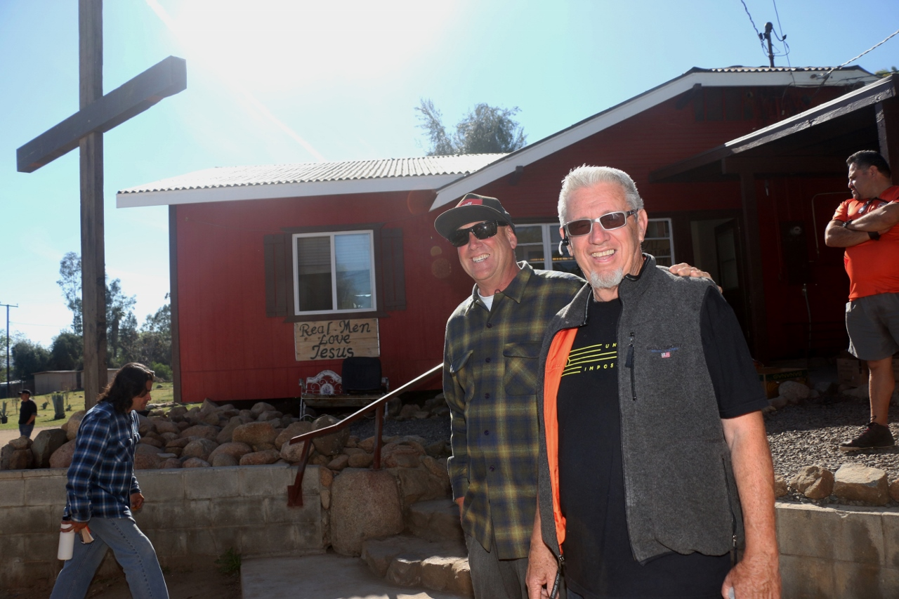 "Jeff, left, and Paul ""J.P."" Spitz of Set Free Men's Ranch outside of Lake Elsinore run a facility for drug users and homeless people. Spitz has run the ranch for about 20 years. Photo: Eric Heinz"