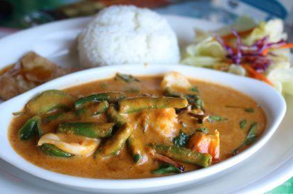 Panang Curry with Shrimp and Squid. Photo: Matt Cortina