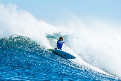 Kolohe Andino of USA won Heat 1 of the Semi Finals at the Drug Aware Pro, Margaret River.