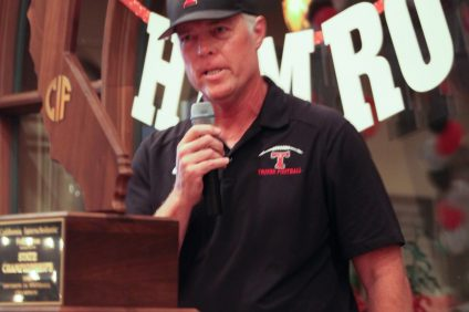 San Clemente High School athletic director and football coach John Hamro was inducted into the football program's Hall of Fame on May 19. Photo: Courtesy