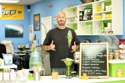 Ed Borrowe, owner of North Beach Nutrition Bar, said he prides his business on its ability to provide healthy products, cleanliness and accountability. Photo: Eric Heinz