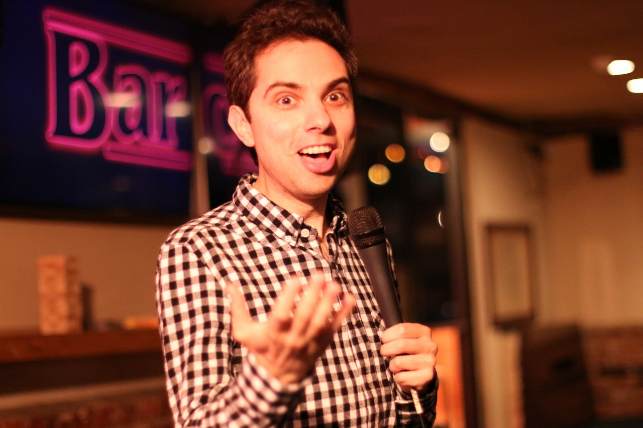Matt Kirshen, a comedian from the UK, performs stand-up on May 17 at Molly Bloom's in San Clemente. Photo: Eric Heinz