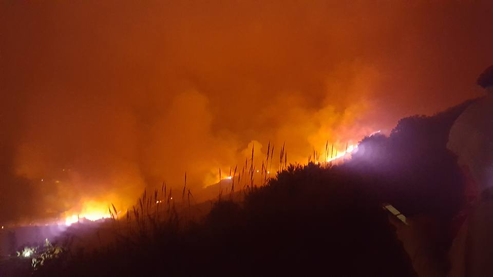 Marine Corps Base Camp Pendleton Caught In 300-Acre Brush Fire