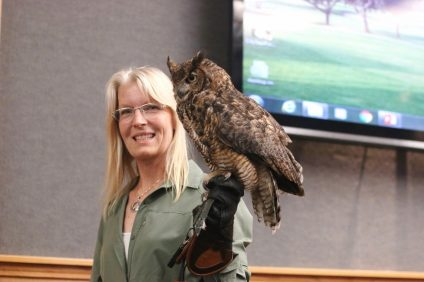 Lori Prichard of HawkEye Predators surprised City Council on Tuesday, June 20, when she brought a great horned owl in a pitch for her bird abatement services to remove avian nuisances, such as pigeons and seagulls. Heal the Bay reported a failing grade for the Pier's ocean water quality in its 2016-17 report, which was released last week. Photo: Eric Heinz
