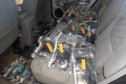 U.S. Border Patrol seizure of narcotics in 2017. Photo: Courtesy of U.S. Border Patrol