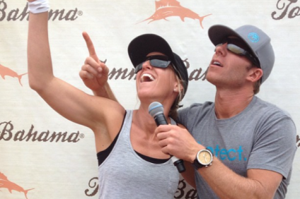 Emcees Tracey Engelking and Dreu Murin are packing the fun for the Greatest Show on Surf. Photos courtesy of Dreu Murin.