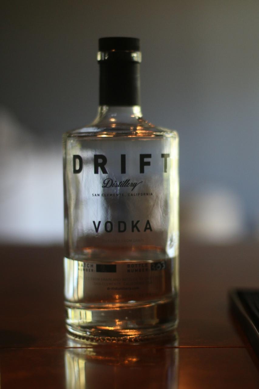 A bottle of Drift Distillery vodka. Photo: Eric Heinz
