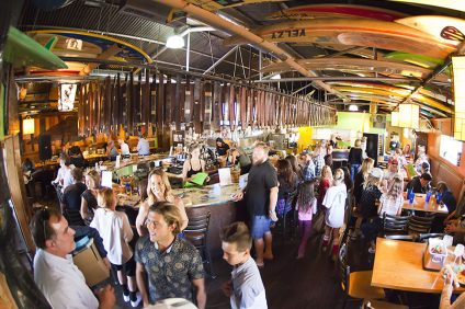 Nomads Canteen in San Clemente will have drink specials as well as broadcast the Hurley Pro and Swatch Pro. Photo: Courtesy of Nomads Canteen