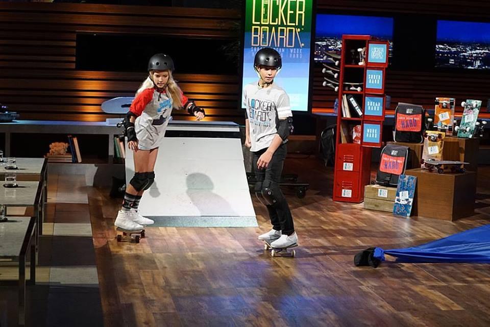 Carson Kropfl, left, on ABC's 'Shark Tank.' Photo: Courtesy