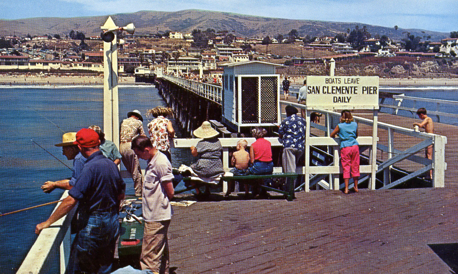 From the Archives   The San Clemente Pier was built in 1928 and rebuilt in 1985 after a vicious storm damaged it significantly. The Pier remains one of San Clemente's most treasured icons. Photo: Courtesy of the city of San Clemente
