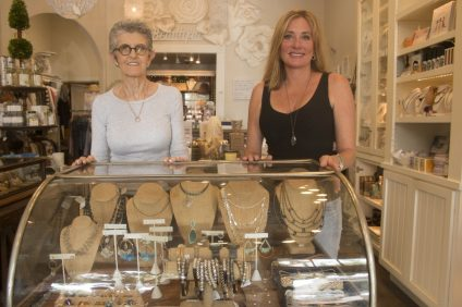 ERBA manager Gisele Tomlinson, left, and owner Lisa West-Yates are celebrating the 15th anniversary of the shop on Avenida Del Mar. Photo: Eric Heinz