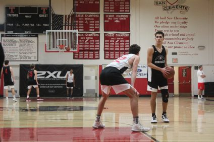 San Clemente's leading scorer Jacob Nemeth (right) looks to lead the Tritons to their fourth straight league title. Photo: Zach Cavanagh