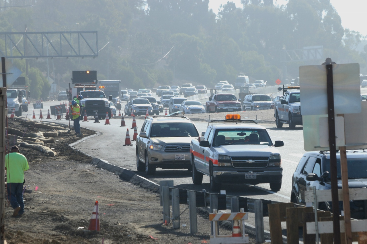 The I-5 northbound off-ramp at Avenida Pico was closed for hours Wednesday morning as CHP and OCSD officials investigated a fatal traffic collision. Photo: Eric Heinz