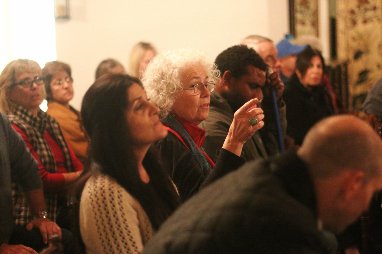 Audience members stated their reasons for concern about the presence of people who are homeless in North Beach and all of San Clemente at a community forum on Jan. 24 at Casino San Clemente. Photo: Eric Heinz