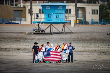 Brandon Phillips (left) has been named USA Surfing's Assistant Coach. He will join Head Coach Joey Buran in training the USA Surfing team for Olympic gold in Japan in 2020. Photo: John Jackson
