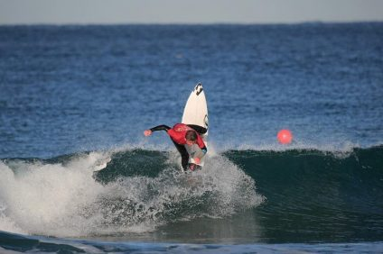 San Clemente High's Liam Murray hammering home the win in the High School Boys division at the NSSA Interscholastic State Championships. Photo: Fake Leg Photography/NSSA