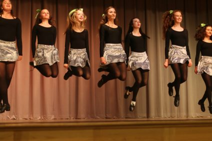 Students of the Aniar Academy School of Irish Dance perform during the Exchange Club of San Clemente's St. Patrick's Day Party on March 17 at the San Clemente Community Center.