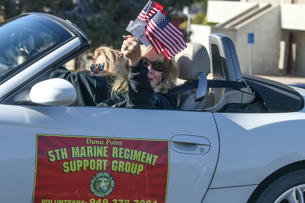 A procession took place on March 29 at Camp Pendleton to welcome the new Vietnam War memorial for the 5th Marine Regiment.