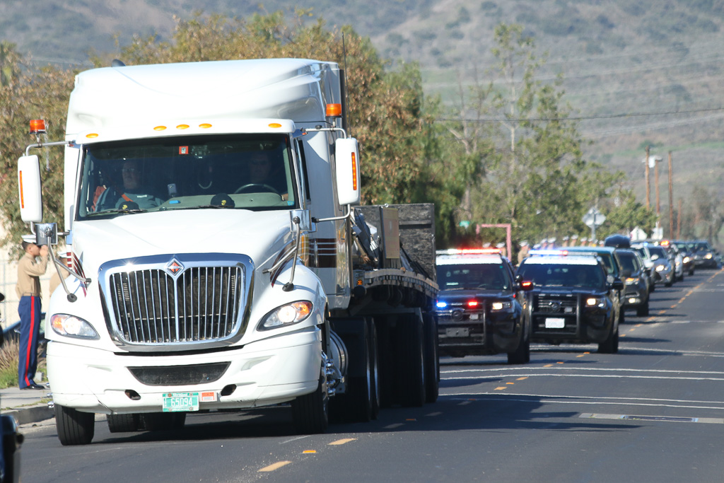 The monument for the Vietnam War veterans was shipped from Vermont by truck and arrived at Camp Pendleton on March 29.
