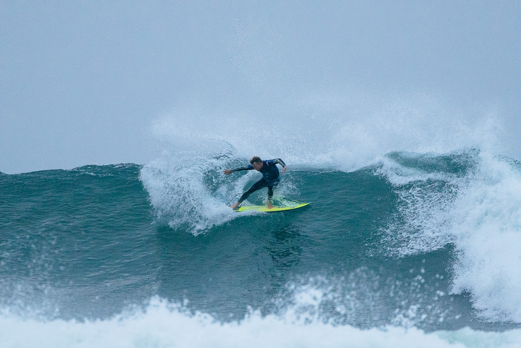 After falling off the world tour in 2013, Pat Gudauskas is back swinging away in the big leagues and just notched his best-ever result on the WSL's Championship World Tour. Photo: WSL