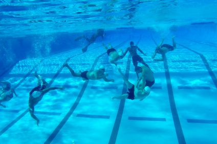 The Underwater Torpedo League returns to the San Clemente Aquatics Center on Saturday, April 28. Photo: File