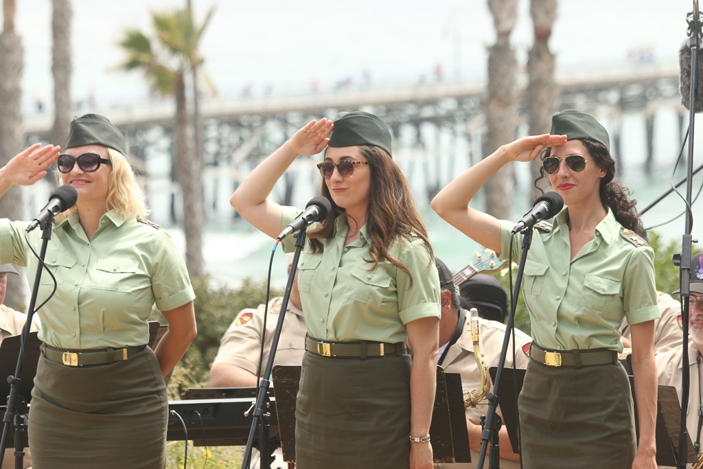 The Pete Jacobs Wartime Radio Revue Band performed on May 28 at Park Semper Fi for the Memorial Day ceremony.