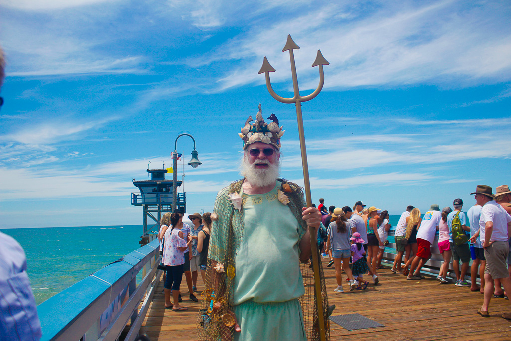 The king has returned. King Neptune was spotted around the San Clemente Ocean Festival on Saturday, July 21. Photo: Eric Heinz
