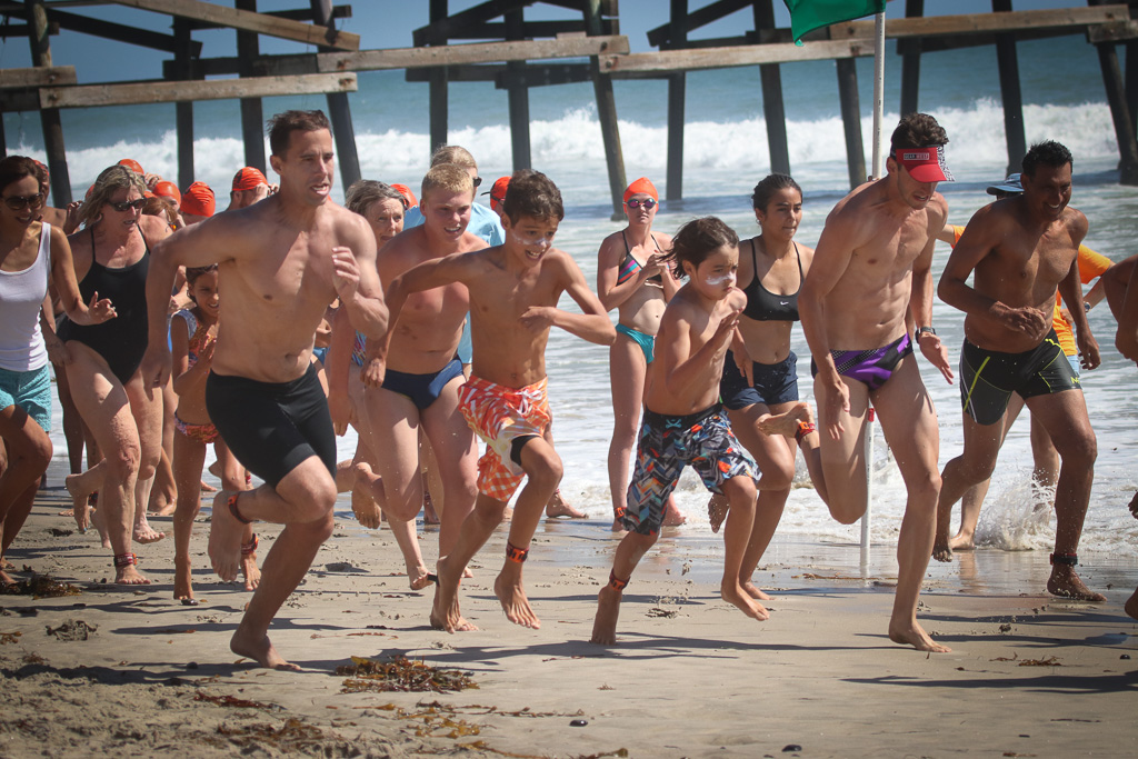 Run-swim-run relay competitions were a family affair on Sunday, July 22, at the San Clemente Ocean Festival. Photo: Eric Heinz