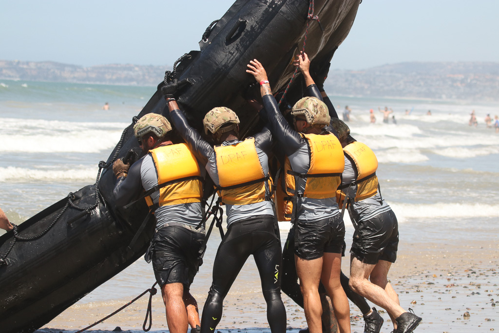 The Marine Raider Boat Challenge pitted competitors from various U.S. Special Forces against one another in timed races on Sunday, July 22, at the San Clemente Ocean Festival. Photo: Eric Heinz
