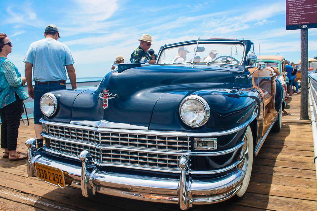 The Woodie Classic Car Show is the spectacle of the Pier during the San Clemente Ocean Festival. Photo: Eric Heinz