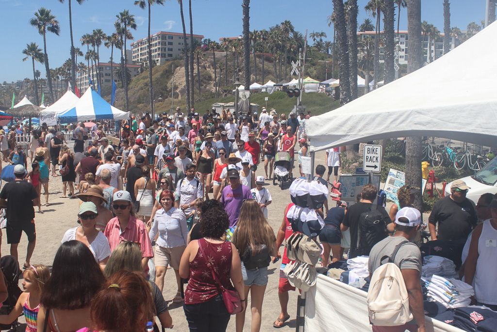 Tens of thousands of people are estimated to patron the San Clemente Ocean Festival, as seen here on Sunday, July 22. Photo: Eric Heinz