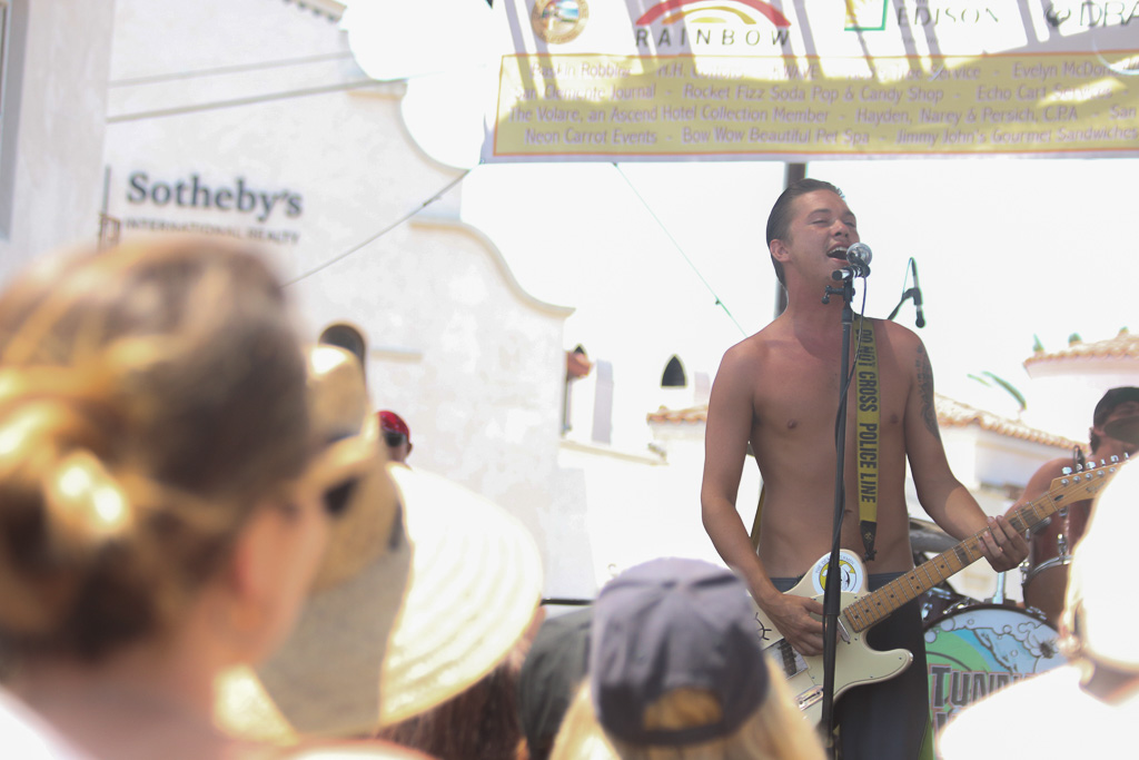 Tunnel Vision performs on the main stage at the San Clemente Fiesta Music Festival on Sunday, Aug. 12, on Avenida Del Mar.