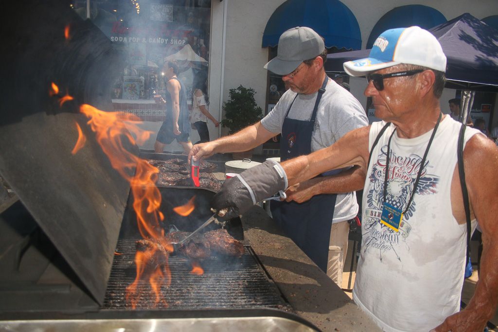 Even though the temperatures were high, vendors still braved the heat while cooking up some delicious delicacies at the San Clemente Fiesta Music Festival.