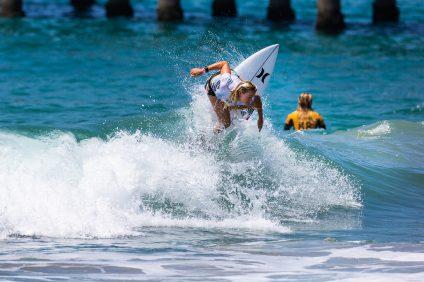 U.S. Open 2018 trials winner Kirra Pinkerton is growing up fast. Photo: WSL