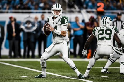 Sam Darnold makes his first NFL start for the New York Jets in Detroit against the Lions on Monday Night Football, Sept. 10. Photo: New York Jets