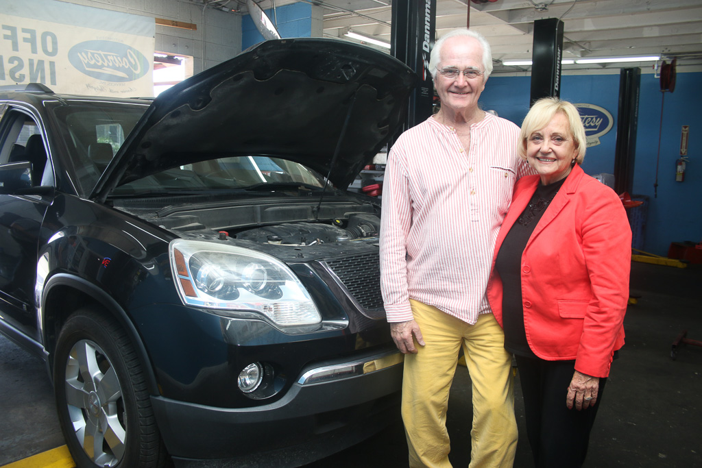 Owner Richard Lapham and his wife, Sandra, have worked at Courtesy Automotive Services, Inc. for the last 10 years. Photo: Eric Heinz
