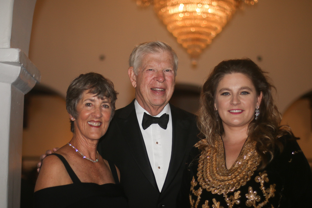From left, Gail and Peter Ochs with Berenika Palys. Photo: Eric Heinz