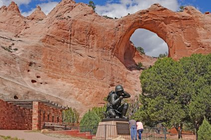 That distant radio station you can sometimes pick up in San Clemente, AM 660, comes from Window Rock, Arizona, seat of the Navajo Nation. A monument there salutes the Navajo Code Talkers of WWII. Photo: Fred Swegles