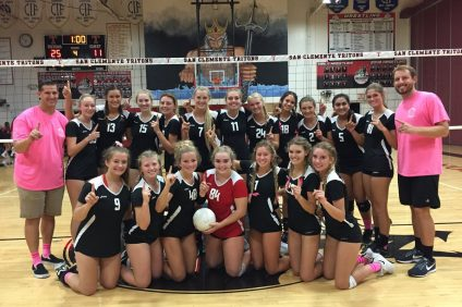 San Clemente girls volleyball clinches Sea View League championship. Photo; San Clemente Athletics
