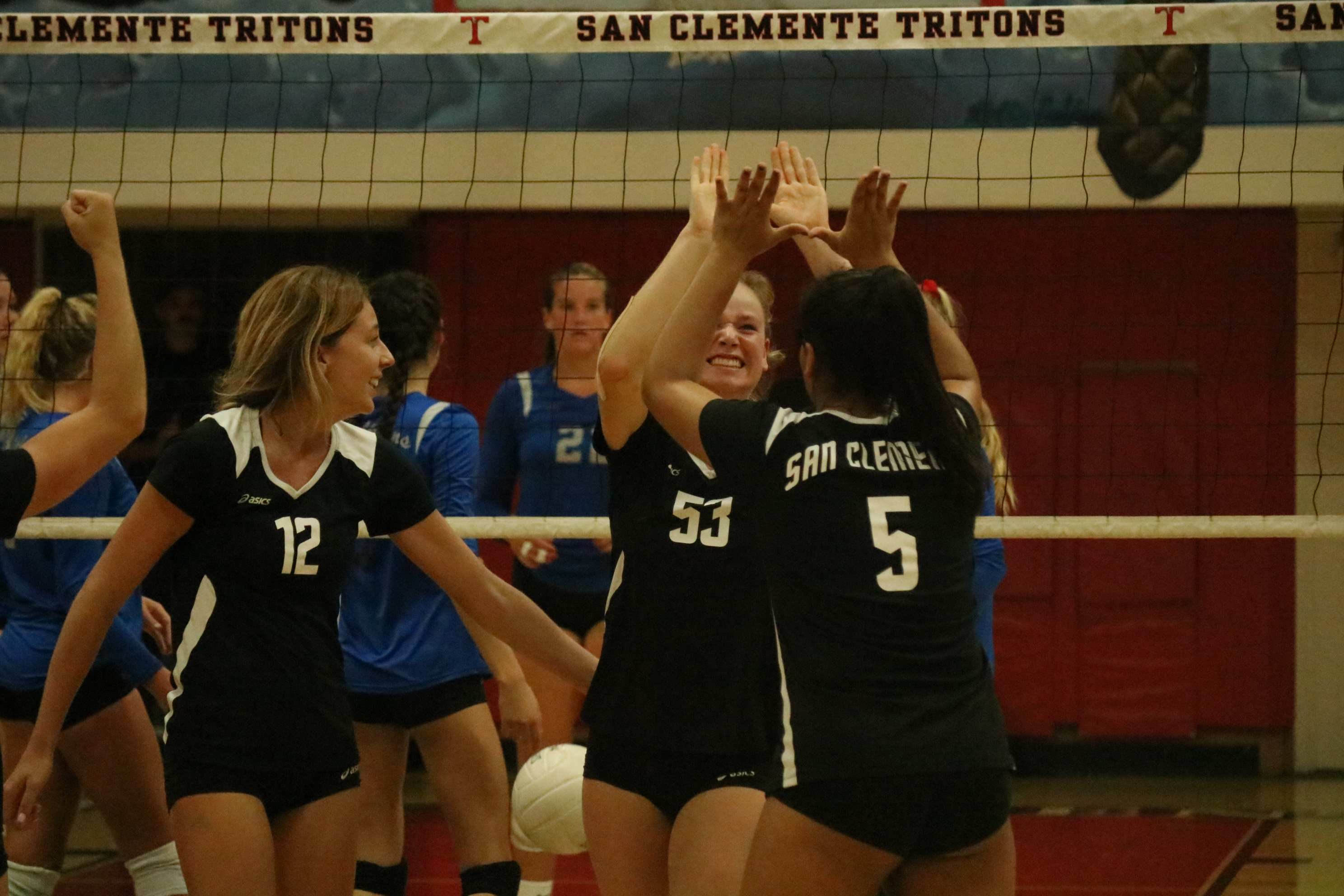 San Clemente upset and swept No. 3 seed Dana Hills in a CIF-SS Division 2 quarterfinal match. Photo: Zach Cavanagh