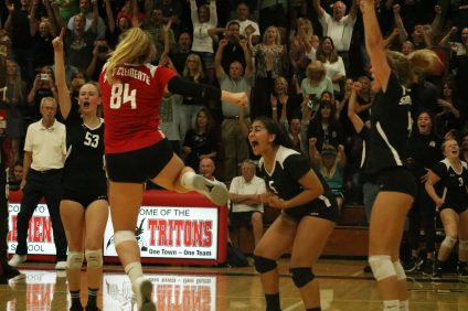 San Clemente upset and swept No. 3 seed Dana Hills in a CIF-SS Division 2 quarterfinal match. Photo: Zach Cavanagh