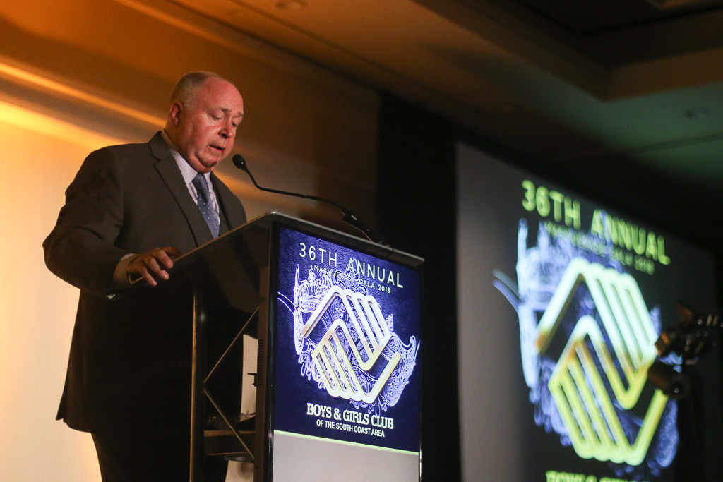 CEO Terry Hughes of the BGCSCA speaks during the Great Futures Gala on Saturday, Oct. 20. Photo: Eric Heinz